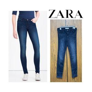NEW Zara Super Skinny Body Curve Dark Wash Jeans